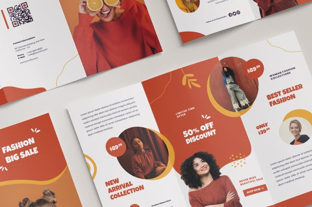 Fashion Trifold Brochure - product preview 1