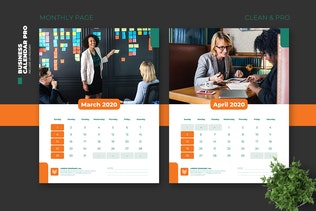 Thumbnail für 2020 Clean Business Calendar Pro mit US Holiday