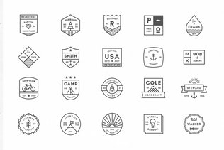 Thumbnail for 20 Line Badges