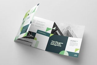 Thumbnail for Square Modern Green Architecture Trifold