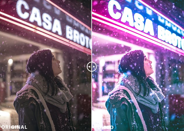 Neon Nights Lightroom Presets Collection
