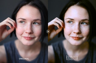 Thumbnail for Reddish Photoshop Actions