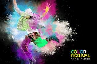 Миниатюра для Цветовой фестиваль Photoshop действие