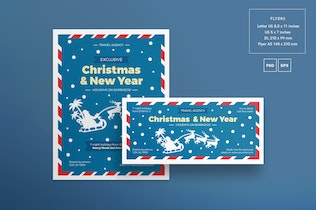 Thumbnail for Christmas Travel Agency Flyer and Poster Template