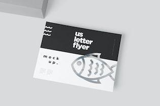 Thumbnail für US Letter Size Landscape Flyer Mock-ups
