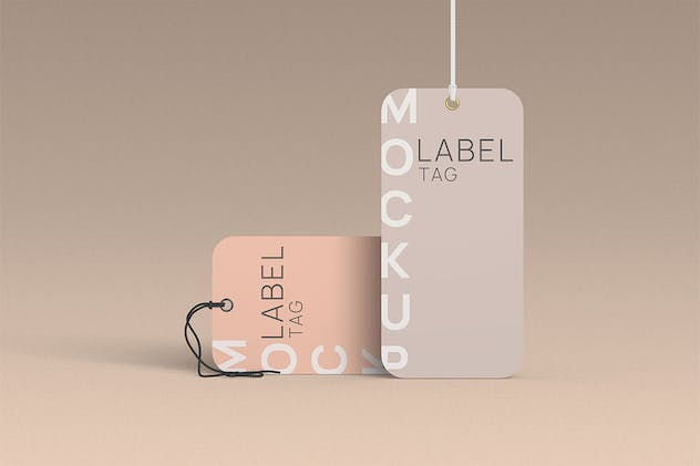 Rounded Clothes Label Tag Mockup 10 PSD Files