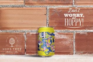 Brick Backgrounds Beer Can Mockup