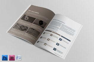Thumbnail for Corporate Brochure Report Template