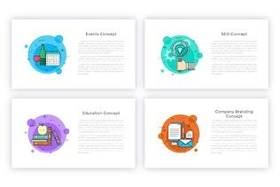 Миниатюра для 40 анимированных концептуальных слайдов для Powerpoint