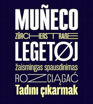 Thumbnail for Bw Stretch font family