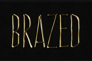 Thumbnail for Metal Layer Styles - Photoshop Gold Text Effect
