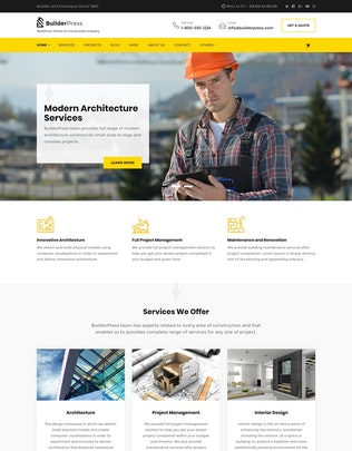 Thumbnail for BuilderPress - WordPress Theme for Construction, A