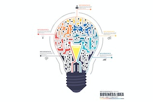 Thumbnail for Flat Line Business Infographics