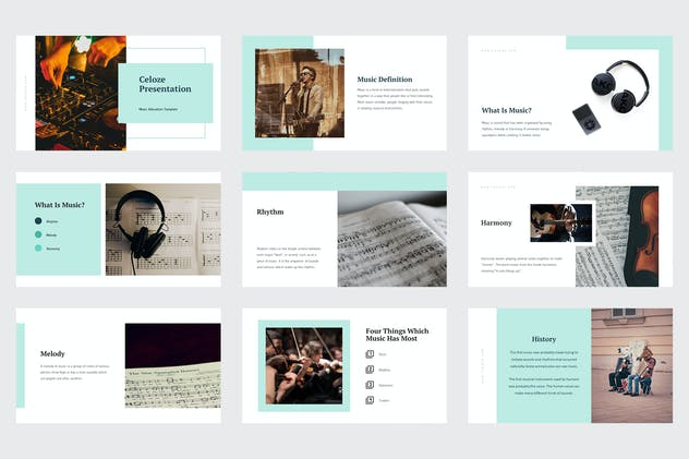 Celoze - Learning About Music Powerpoint - product preview 7