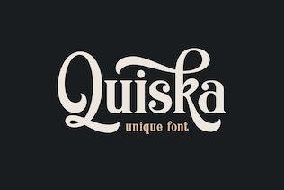 Thumbnail for Quiska - Unique Fonts