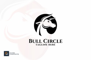 Thumbnail for Bull Circle - Logo Template