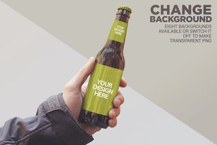 Thumbnail for Personalized Background Beer Mockup