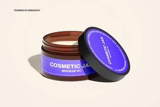 Thumbnail für Kosmetische Bernstein-Glas Mockup