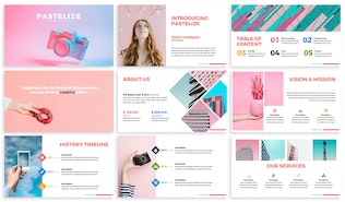Thumbnail for Pastelize - Business Keynote Template