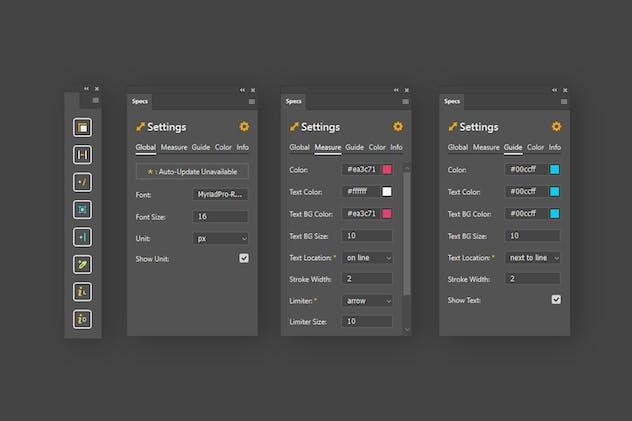 Specs - Custom Measures & Marks (Photoshop 2021)