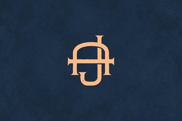 AJ Vintage Monogram Logo