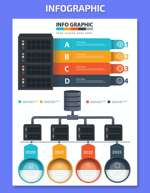 Database Infographics Elements - product preview 3