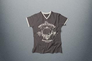 V-Neck T-shirt Mock-up Male Version