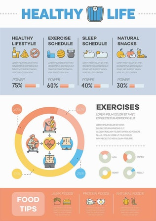 Thumbnail for Fitness & Workout Infographic Pack