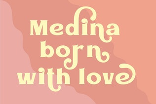 Miniatura para Medin - Elegante fuente Con serifa