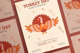 Thumbnail for Thanksgiving Celebration Flyer and Poster Template