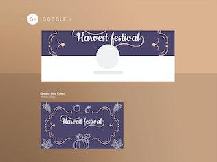 Thumbnail für Harvest Festival Social Media Pack Vorlage