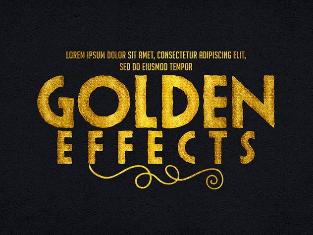 Gold Text Effects 1 - product preview 9