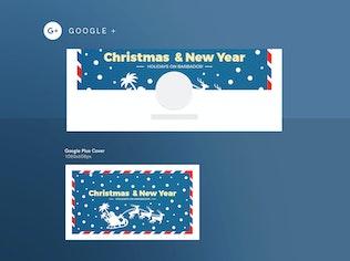 Thumbnail for Christmas Travel Agency Social Media Pack Template