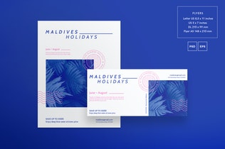 Thumbnail for Holidays Travel Flyer and Poster Template