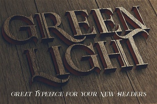 Thumbnail for Green Light - Vintage Style Font