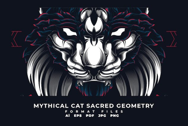 Mythical Cat Sacerd Geometry