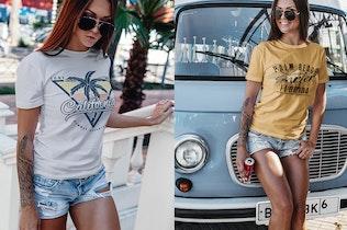 Thumbnail for Summer Girl T-Shirt Mock-Up