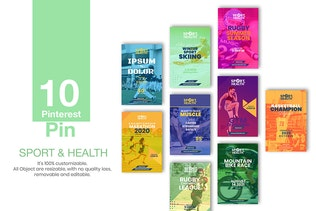 Thumbnail for 10 Pinterest Pin Banner - Sport and Health