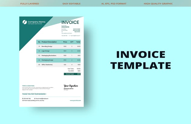 Invoice Template - product preview 1