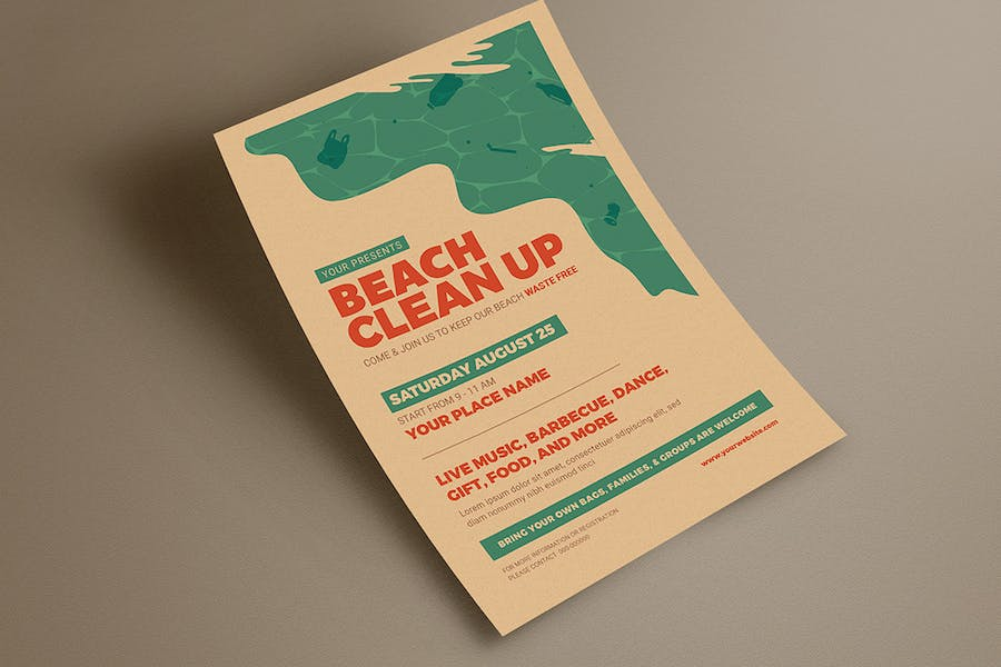 Beach Clean Up Event Flyer - product preview 3