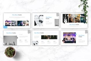 Миниатюра для MUSICMAX - Музыка Google Слайды Шаблон