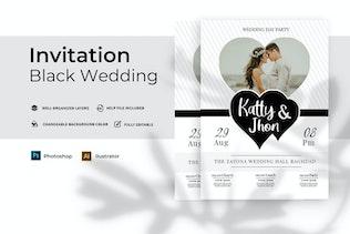 Miniature pour Mariage Noir | Invitation