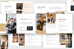 Thumbnail for Coffee Shop Keynote Template