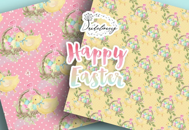 Happy Easter digital paper pack - product preview 4