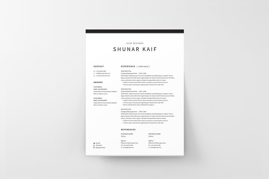 Resume - product preview 3