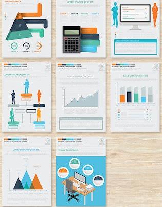 Миниатюра для Бизнес-Инфографика 17 Страниц Дизайн