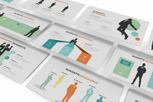 Thumbnail for Silhouette Infographic Google Slides Template