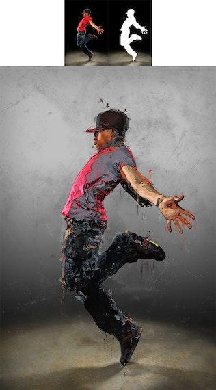 Миниатюра для Холст 2 Photoshop Действие