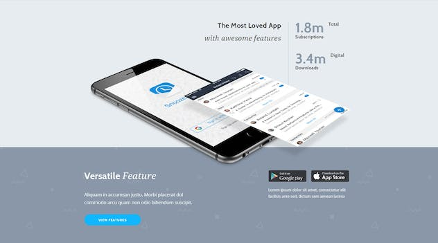 App Promotion   One Page App Promotion Theme - product preview 6