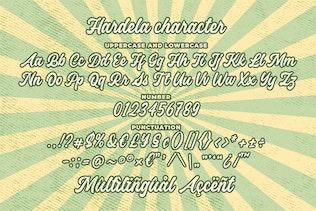 Miniatura para Hardela - Fuente de escritura retro